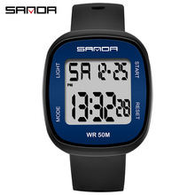 SANDA Brand Men Watches reloj mujer Waterproof Dual Time Personality Men's Multi Function LED Electronic Sport Watch otoky dignity women men silicone wrist watches multi purpose date time electronic calculator reloj mujer 2017 may01