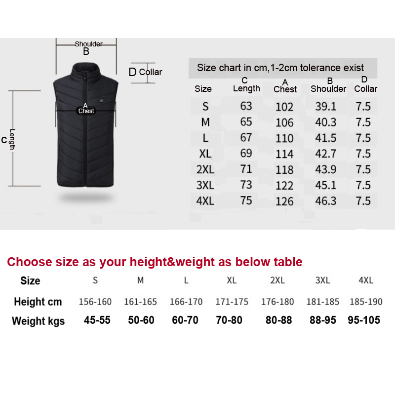 Heating Vest Washable Usb Charging Heating Warm Vest Control Temperature Outdoor Camping Hiking Men Women Winter Jackets