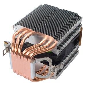 Image 2 - X79 X99 chłodnica procesora 4pin wentylator 115X 1366 2011 6 heatpipe podwójna wieża chłodzenie 9cm wsparcie fanów Intel AMD RGB ARGB wentylatory ryzen