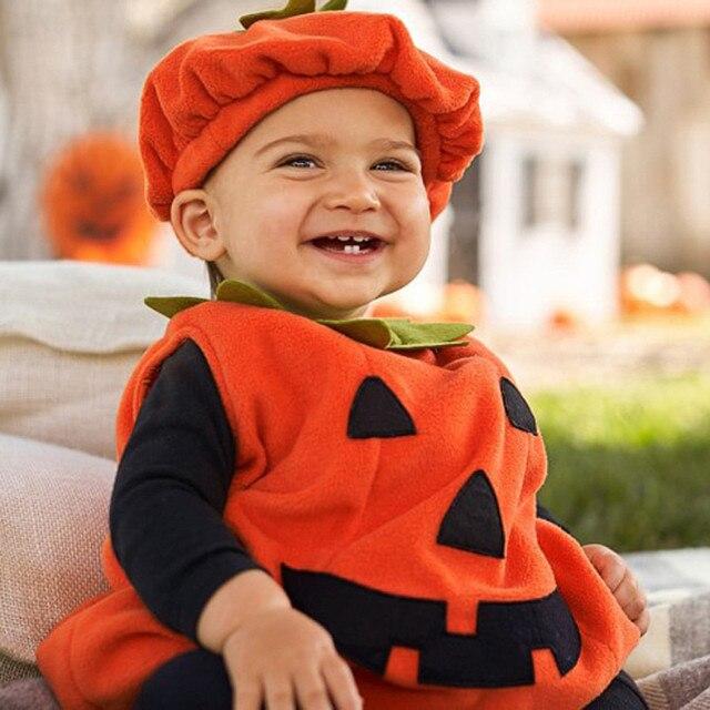 Baby Pumpkin Romper Costume 3