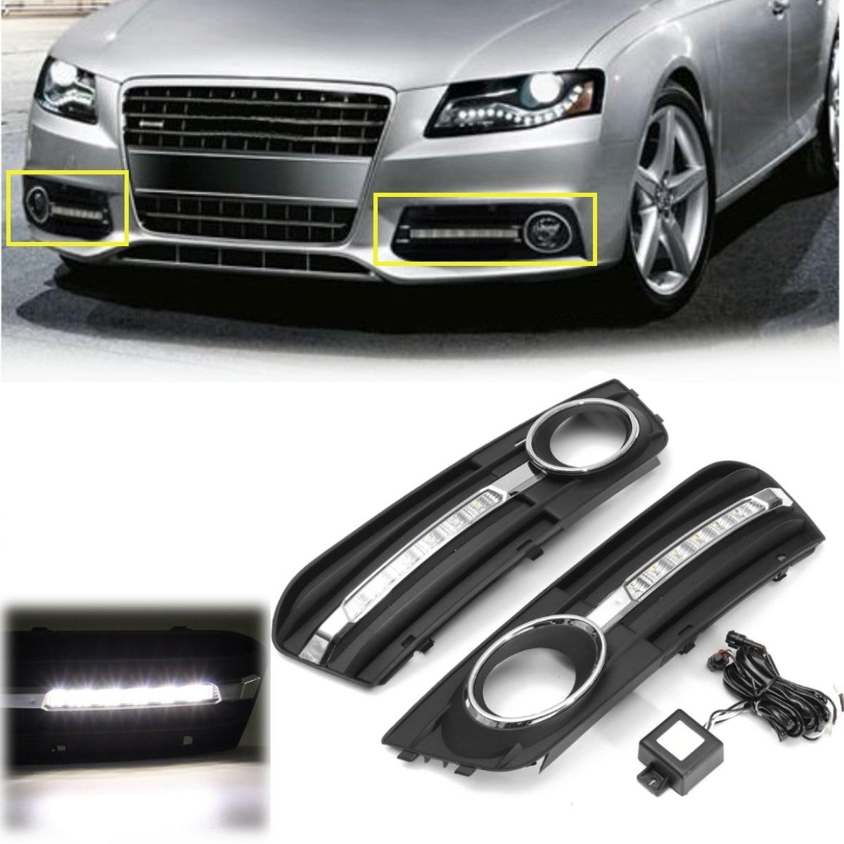 СВЕТОДИОДНЫЙ Автомобильный светильник для Audi A4 2009 2010 2011 2012 автомобильный Стайлинг светодиодный DRL Дневной ходовой светильник Дневной свети