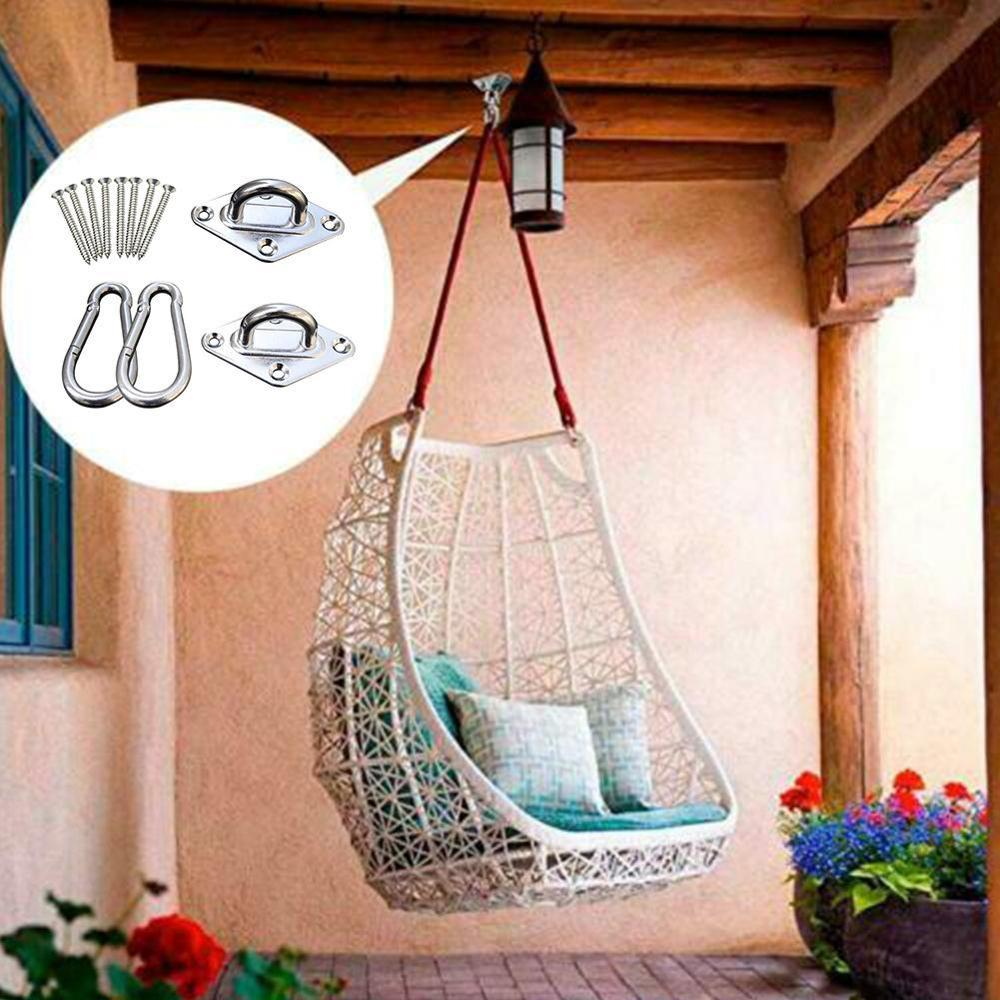 Hooks for Hammock Swing Chairs Stainless Steel Hanging Seat Accessories Kit for Ceiling/Indoor/Outdoor