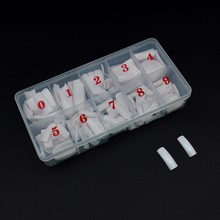 10 scatole punte per unghie finte 5000 pezzi unghie finte Capsule Ongle trasparente bianco mezzo falso Nail Art acrilico punte francesi Set Manicure