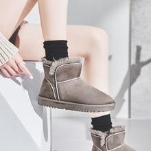 Классические женские зимние ботильоны; женская теплая обувь на меху с плюшевой стелькой; Женская удобная повседневная обувь высокого качества; Botas Mujer; YPX81