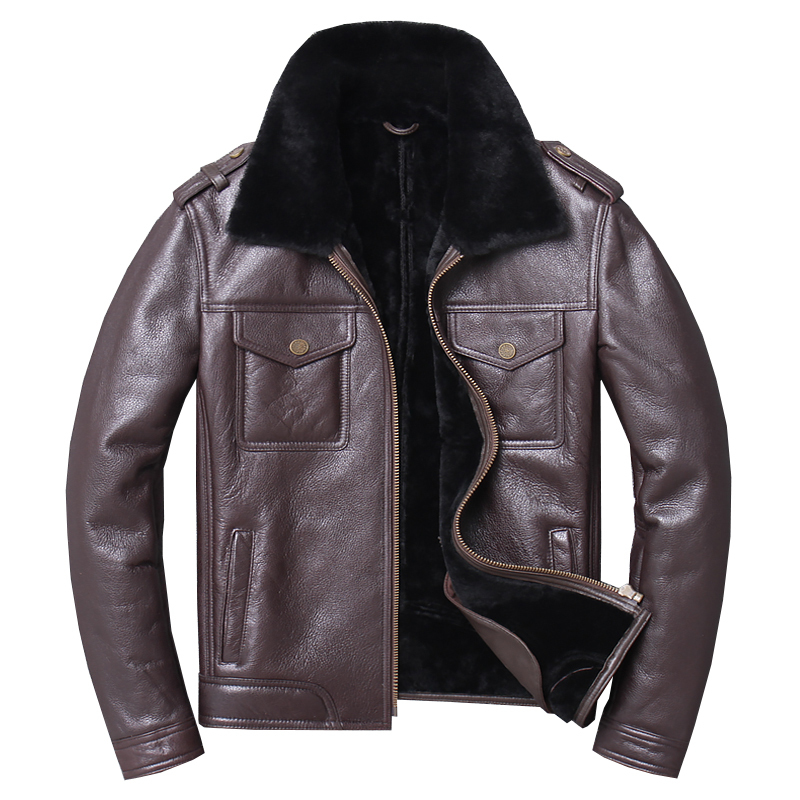 Free Shipping,2020 Winter Sheep Fur Coat,100% Wool Shearling,thick Warm Leather Jacket,mens Sheepskin Coat.casual Jackets.