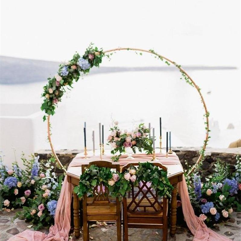Shelf Iron Flower Decoration Birthday Round Wedding Arch Props Door New Background Customized Party