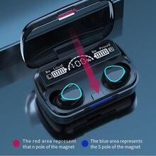 DODOCASE M10 Bluetooth 5.1หูฟังพร้อมกล่องชาร์จหูฟังไร้สายหูฟังสเตอริโอกีฬาหูฟังกันน้ำพร้อมไมโครโฟน