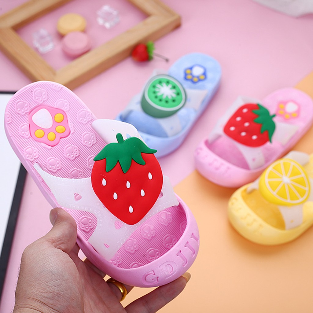 Children Infant Kids Baby Girls Boys Cute Fruit Paw Beach Slippers Sandals Shoes Kapcie Zapatillas Kids Shoes детские кроссовки