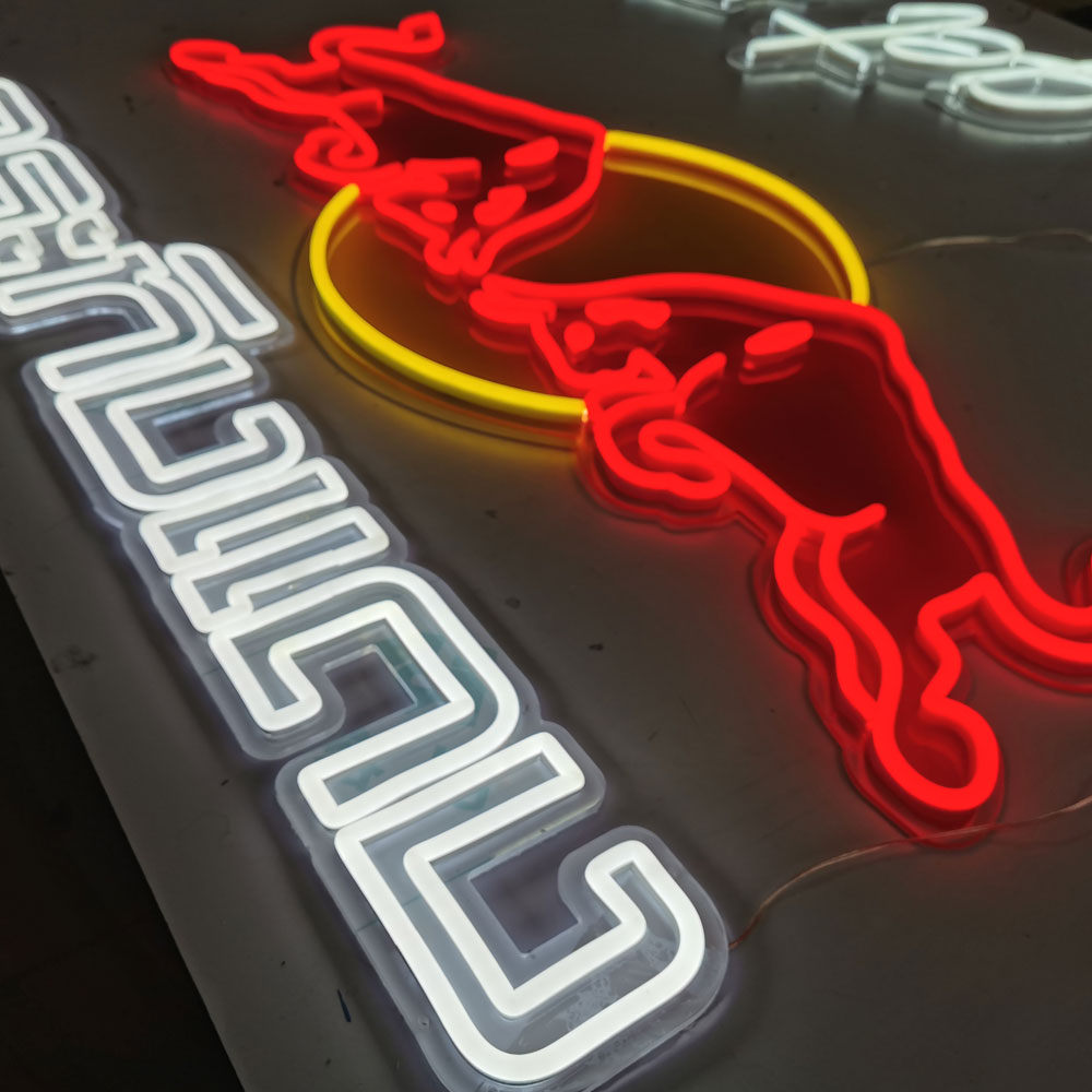 Custom Red White Neon Lights Handmade Flexible Neon Wall Light Signs Logo Aesthetic Warm Lighting Home Letters Neon Signs
