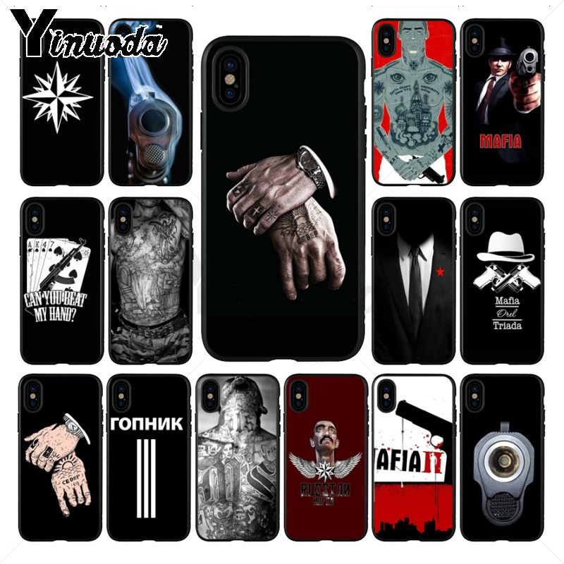 Russian Mafia Pattern TPU Soft Phone Accessories Cell Case For iPhone X 11PRO MAX 8 7 6S Plus XS MAX 5 5S SE XR Mobile Cases