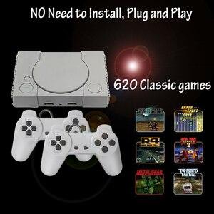 Mini Super Retro gra wideo sterownik konsoli wbudowana 620 gier AV-8 Bit rodzina TV podwójny Gamepad wsparcie 2 odtwarzacz do gier