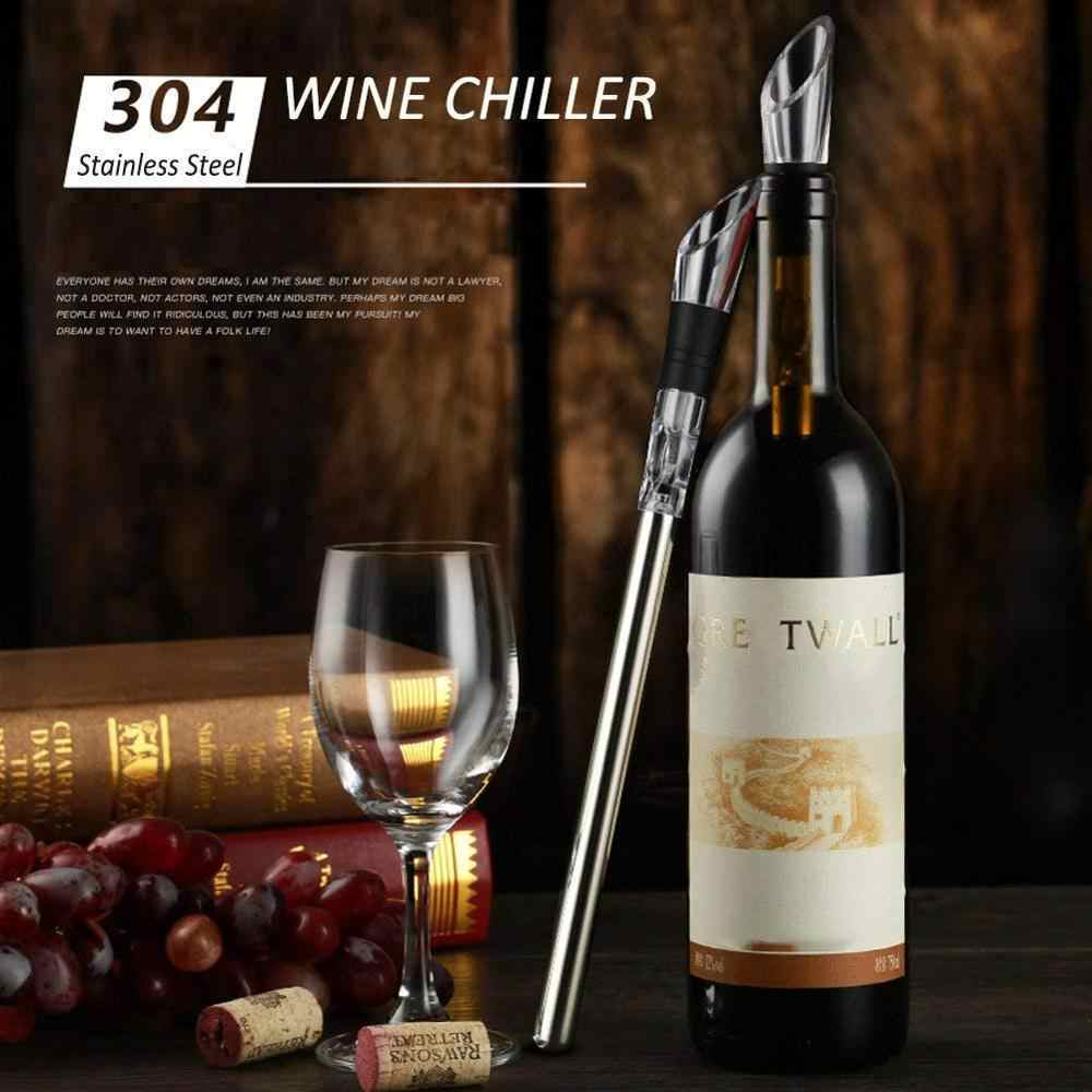 Silver ETCBUYS Stainless Steel Ice Wine Chiller Stick with Wine Pourer Wine Cooling Stick Cooler Beer Beverage Frozen Ice Cool Bar