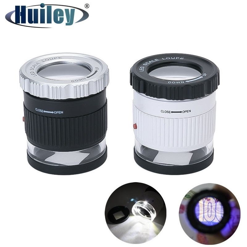 Jewelry Loupe with 3 LED 3 UV Light Optical Glass Lens Magnification 30x Magnifier for Identifying Stamps Antique Currency|Magnifiers| - AliExpress