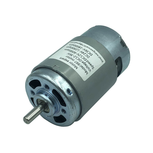 997 Powerful DC Motor 12 36V High Speed Motor Silent Ball Bearing Motor