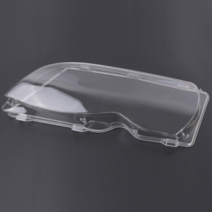 Image 4 - Mayitr 1 זוג 4 דלת רכב פנס זכוכית כיסוי ברור שמאל ימין פנס עדשת פגז עבור BMW E46 02 06