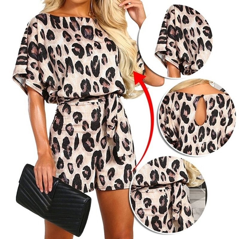 Fashion Popular Leopard Print women's Printed Shorts Jumpsuit Summer New European And American Explosion Models Jumpsuit 2020
