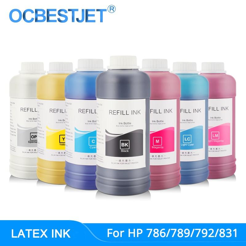 латексные чернила для эпсон - 500ML Original Latex Ink For HP 786 789 792 831 For HP L25500 L26500 L26100 L28500 L65500 Latex Ink (7 Colors Are Available)