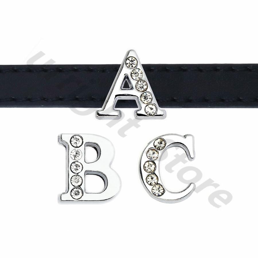 8mm-铬色半钻白钻-字母穿戴-穿过主图