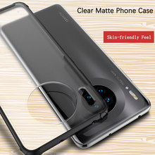Phone Case for Huawei Mate 30 Case Cover Soft TPU Silicone Frame Translucent Frosted PC Matte Case Cover for Huawei Mate 30 Pro simple protective matte frosted pc tpu back case for iphone 5 translucent black