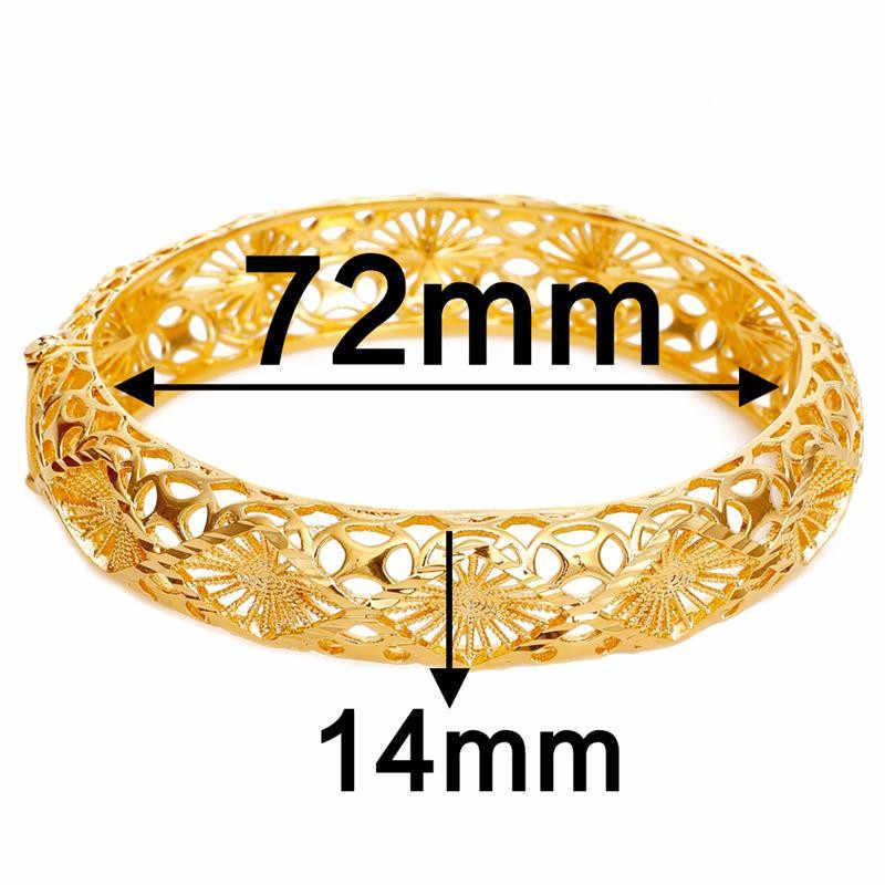 DOTSHE Trendy pozłacane 24K złota wielu kształt bransoletka Curb kubański łańcuch złoty kolor bransoletki dla kobiet biżuteria prezenty