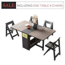 Fashion folding dining table furniture yemek masasi multifunctional rectangle dining table with 4 chairs