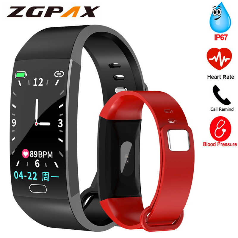 R1 Sports Smart Band Fitness Tracker Heart Rate Blood Pressure Oxygen Monitor IP67 Smart Bracelet Call Reminder Health Bracelet
