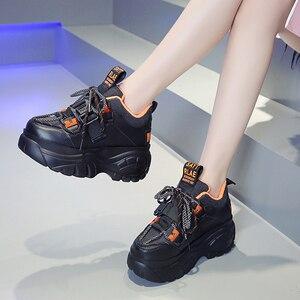 Image 5 - Женские кроссовки на платформе; Зимняя Теплая Обувь На Шнуровке; Модная повседневная обувь с высоким берцем; Женские кроссовки на толстой подошве; Deportivas Mujer