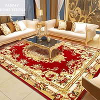 2400MMx3300MM Elegant American Rustic Floral Living Room Rug,Modern European Carpets For Living Room,Designer Red Rugs