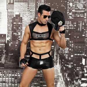 Image 3 - גברים סקסי תלבושות חמה ארוטית סקסי קוספליי תלבושות מפואר שוטרים שמלת גברים ליל כל הקדושים תלבושות משטרת מדים 6603