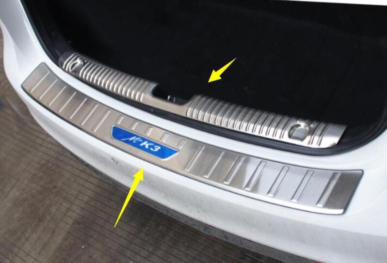 Подходит для 2016-2018 для kia K3 задняя защитная накладка Специальная нержавеющая сталь багажник пластины декоративные аксессуары