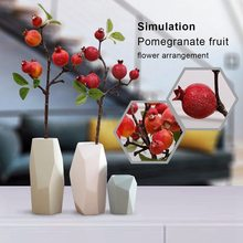 Sunset red Home decoration artificial simulation ornament pomegranate fruit branch short branch garden fake pomegranate fruit si