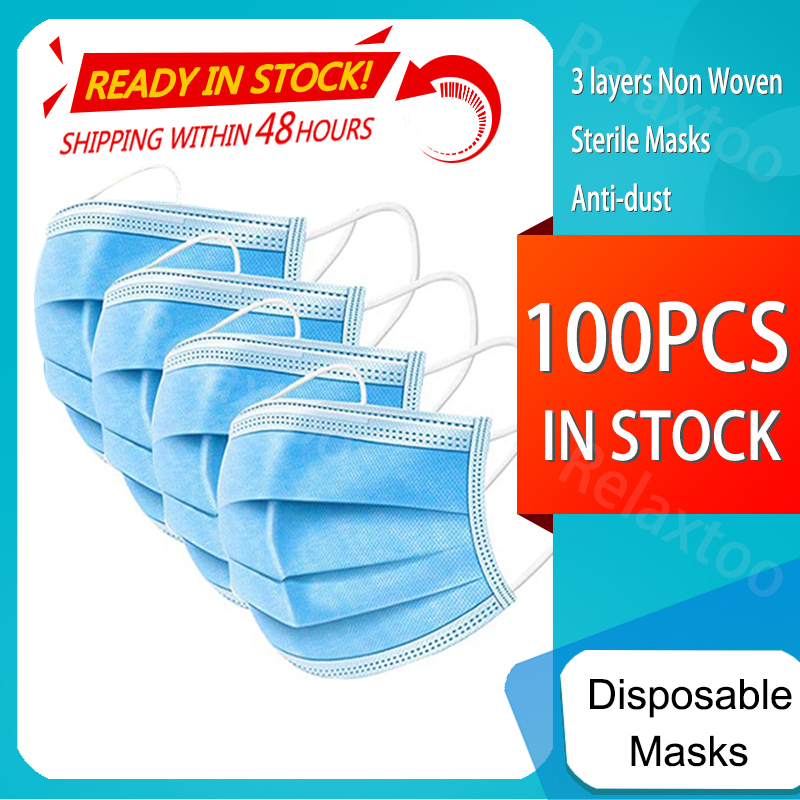 100-10PCS One-use Mask Dustproof Anti-fog Breathable 3-Layer Mouth Face Masks For Face Shield Mascarillas Desechab Facemask Mask
