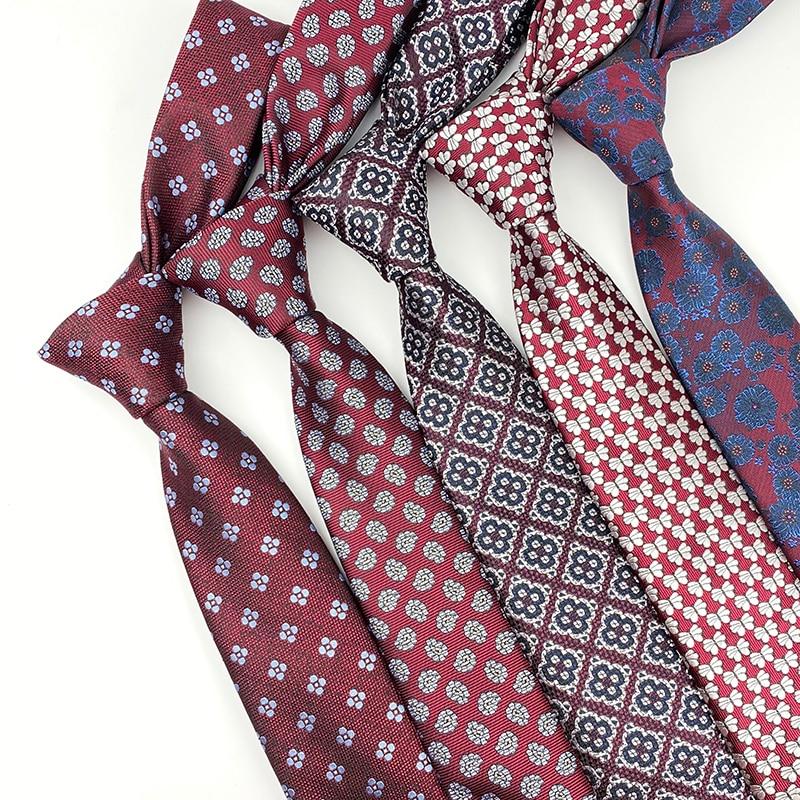 Men's Ties Handmade Stripe Flower Floral 7cm Jacquard Necktie Accessories Daily Wear Wedding Party Gift