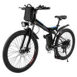 """Rower górski rower elektryczny pełne zawieszenie rower aluminium składana rama 27 prędkości mechanik hamulca 26 """"koła w Rower od Sport i rozrywka na"""
