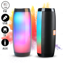 TG157 Portable Speaker Bluetooth  Loudspeaker Column  FM Radio Bass Stereo Waterproof With LED Lights Audio Microphone