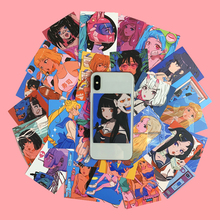 36Pcs/pack Japanese Retro Anime Style Oversized Sticker Room Wall Decoration Tool Hand Account Book Card Postcard Sticker Gift
