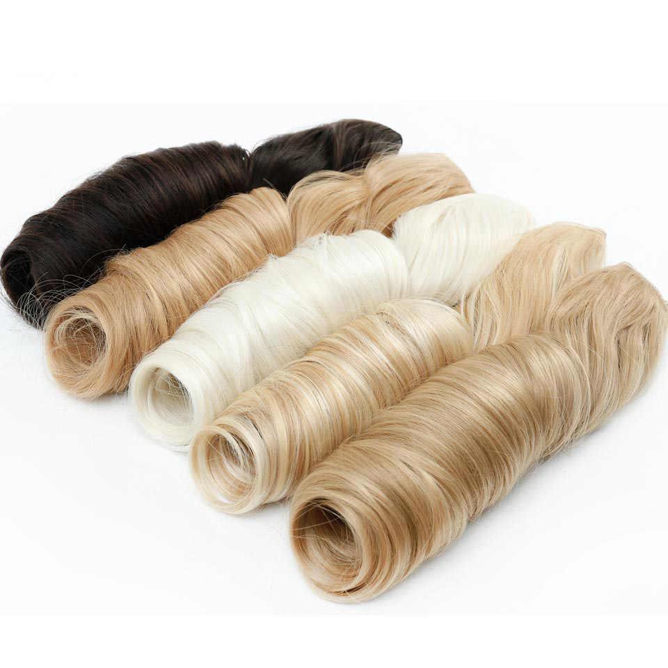 """Allaosify 24 """"3/4 полная голова длинная прямая женская Сережка для наращивания волос черный коричневый высокотемпературный синтетический шиньон на зажиме Ins"""