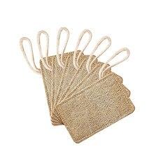 Jushfo 6 pçs natural luffa esponja esponja prato escova de limpeza purificador utensílios de cozinha limpador de lavar louça loofahs esfrega almofada