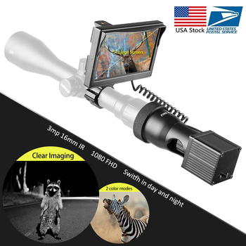 Fire wolf 850nm latarka na podczerwień 5 cali LCD Night Vision Outdoor polowanie celownik optyczny taktyczna luneta celownicza zakres kamery tanie i dobre opinie Karabin Obiektyw 18650 Lithium battery(not contain) 5 0 inch 100m FW54-YSY030 Lithium Ion