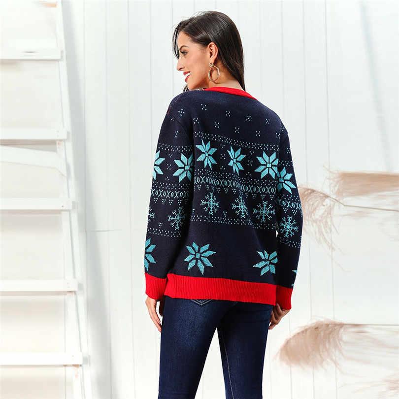 Рождественский свитер с v-образным вырезом, Кардиган с длинным рукавом, женский короткий кардиган с принтом снежинки, кимоно, кардиган, Повседневный, Pull Femme Nouveaute 40OCT21