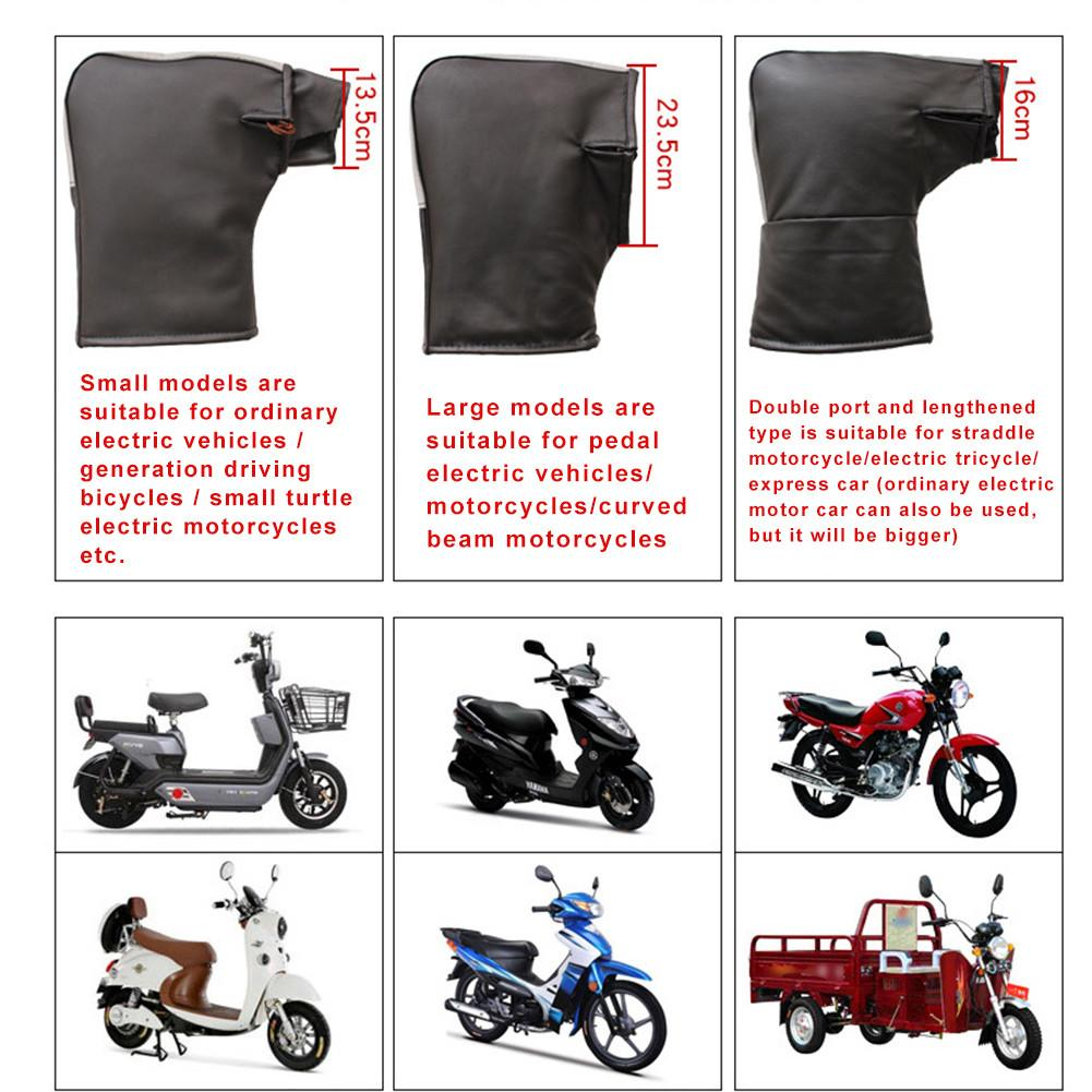 Winter Thermal Motorcycle Handlebar Gloves with Reflective Strip Windproof Waterproof Warm Motorbike Handle bar Hand Cover Muffs in Gloves from Automobiles Motorcycles
