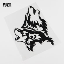 Yjzt 12.7cmx16.9cm tribal uivando lobo vida selvagem decalques à prova dwaterproof água vinil etiqueta do carro 13c-0074