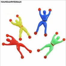 5 Pcs Of Fun Wall climber Toy Plastic Toys Sticky Spider Villain Fun For Girls&Boys&Childs HANDANWEIRAN(China)