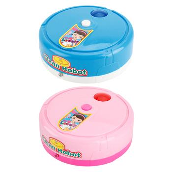 Dzieci udawaj zagraj w Robot odkurzacz elektryczny lekki Robot odkurzający odkurzacz do czyszczenia zabawek do czyszczenia podłóg tanie i dobre opinie CN (pochodzenie)