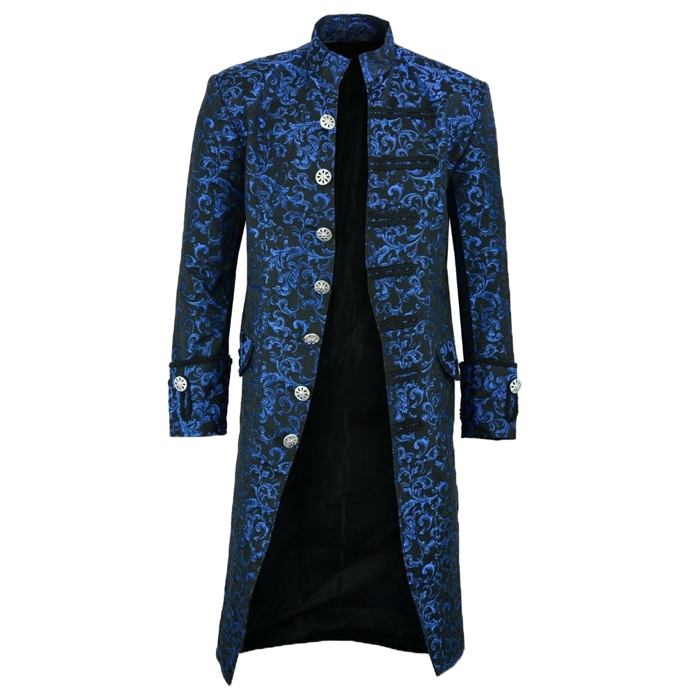 Hbd1e304e345f4e8a92c8cd91ab4f37e9Y New Men's Vintage Tailcoat Jacket Gothic Steampunk Long Sleeve Jacket Victorian Dress Jacket Halloween Casual Button Clothing