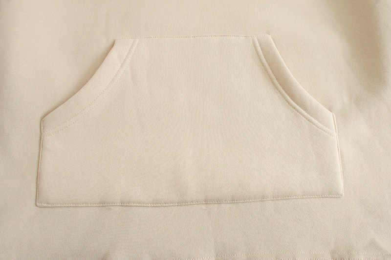 Toppies 느슨한 특대 후드 womens 스웨터 가을 겨울 양털 후드 2020 여성 의류