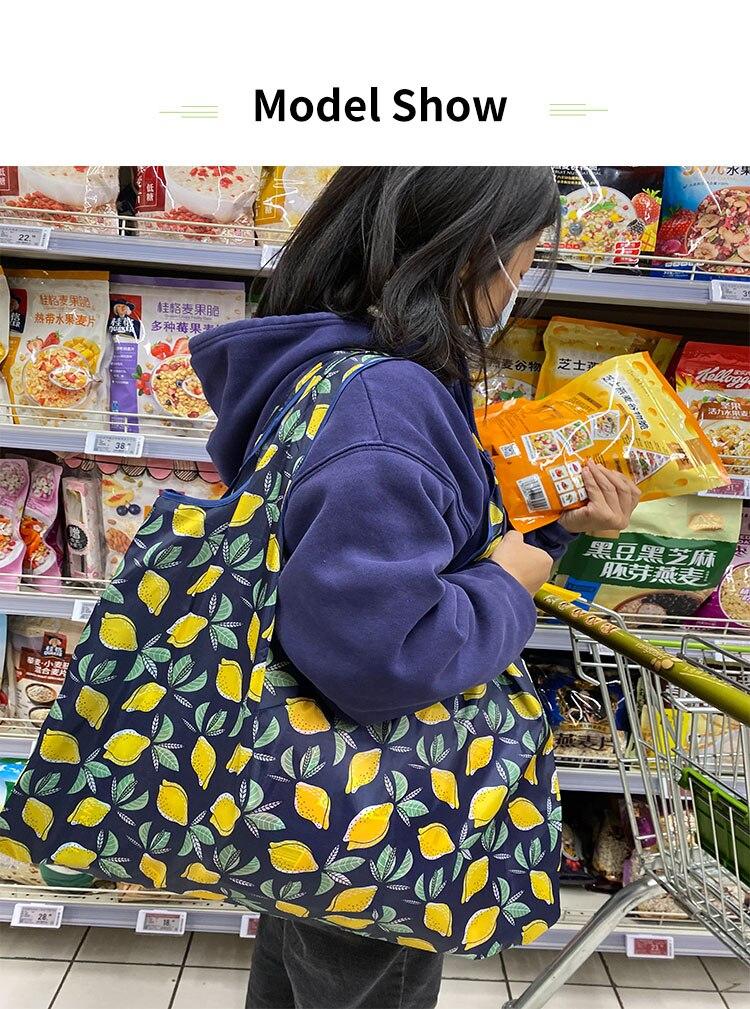 sacolas das senhoras, sacos eco-amigáveis bonitos de 50 libras, lavável na máquina