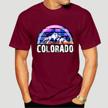 MenS New Colorado State Holiday Gift Rocky Mountain Hiking T-Shirt Size M-3Xl Loose Size Top Ajax Tee Shirt 6005X
