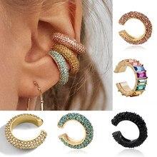 Regenboog Clips Op Oren Zonder Piercing Geen Oor Gat Earring Fake Piercing Oor Manchet Earing Earcuff Clip-On Oorbellen