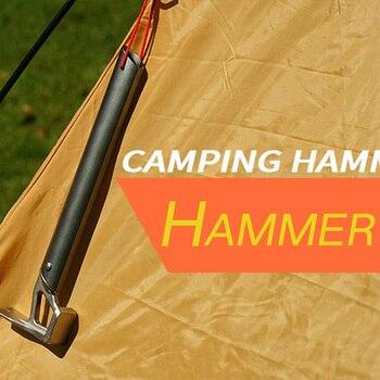 Nouveau multi-fonction tente marteau léger en aluminium poignée en acier inoxydable en plein air alpinisme Camping tente ongles extracteur